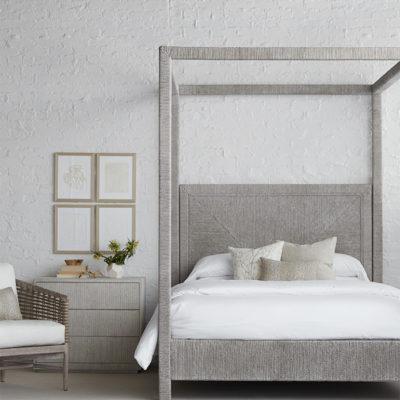 Palecek Bed and Nightstand